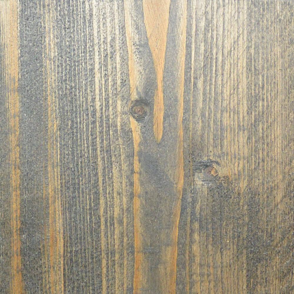 Nieuw steigerhout met zwarte beits