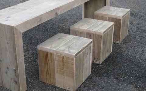 Voor binnen en buiten steigerhouten meubels budget living - Deco massief buiten ...