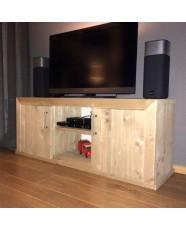 Steigerhouten TV meubel Milan, verouderd hout, onbehandeld