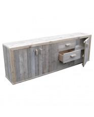 Steigerhouten dressoir Milan 1, onbehandeld oud steigerhout