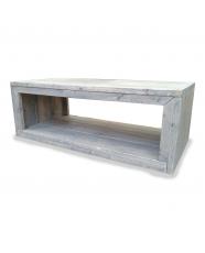 steigerhouten salontafel anouck, nieuw hout en licht grijs behandeld