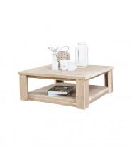Steigerhouten salontafel met onderblad, greywash hout