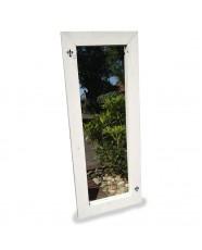 Steigerhout Spiegel Sanne 1, nieuw hout en witte beits behandeld