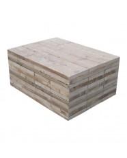 steigerhout salontafel kops,oud hout en witte beits behandeling