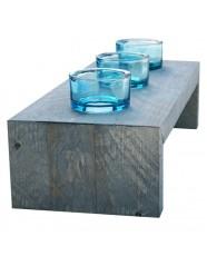 Steigerhout Sfeerlichthouder 3, nieuw hout en donker grijze beits