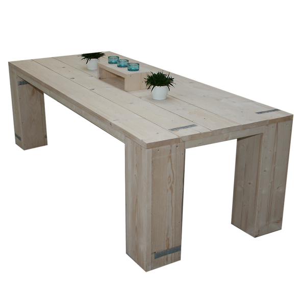 Steigerhouten tafel Mammuth 2, nieuw hout onbehandeld