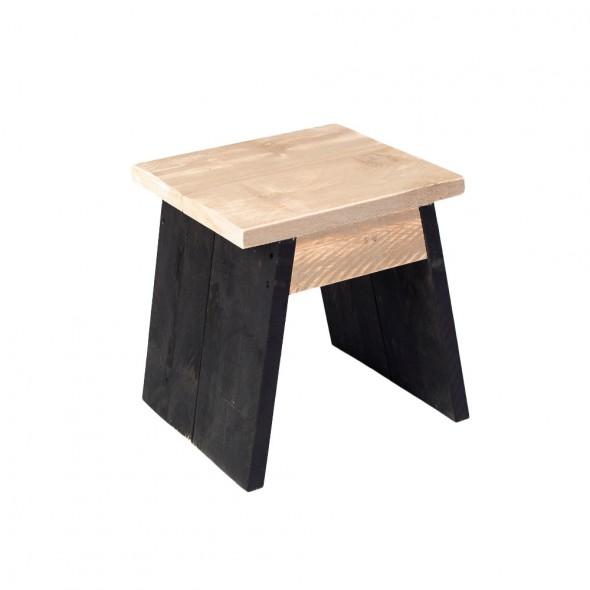 Steigerhouten kruk Lazise, onbehandeld hout