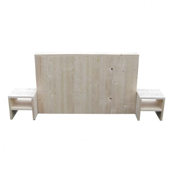 Steigerhouten hoofdbord Basic met nachtkastjes