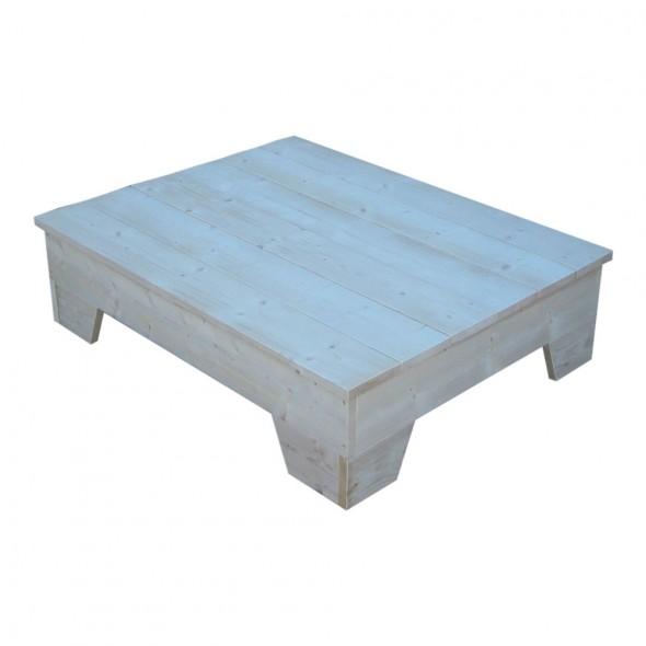 Steigerhouten buiten-salontafel Gerrit 1 - nieuw steigerhout en onbehandeld