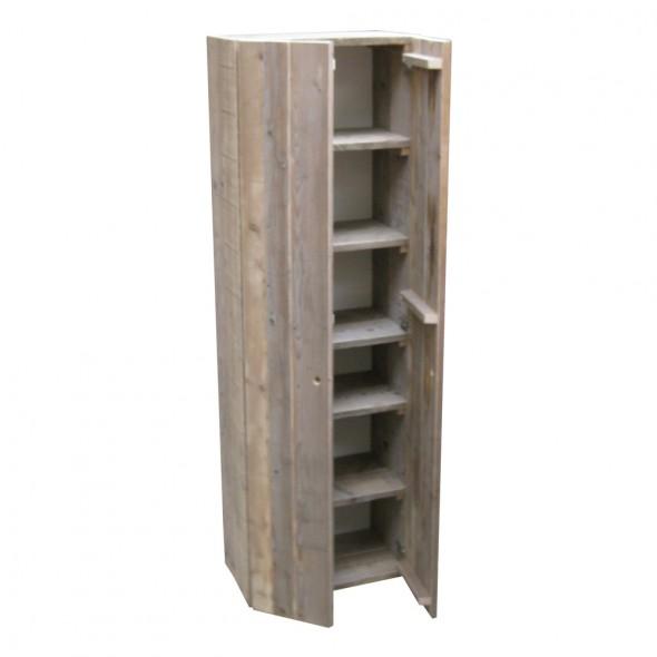 Steigerhouten kleding/opberg Kast Greetje 2, oud hout en onbehandeld
