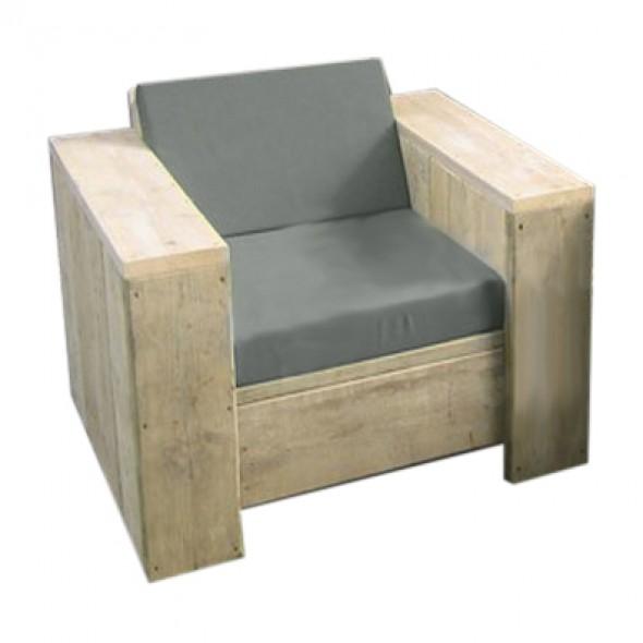 steigerhout loungestoel relax- onbehandeld oud hout