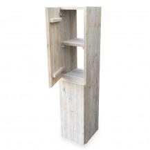 Steigerhouten (badkamer) Kast Slank open, gebruikt hout en onbehandeld