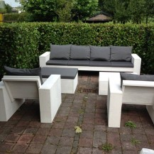 Steigerhouten Lounge set