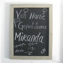 Steigerhouten Krijtbord Miranda