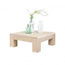 Steigerhouten salontafel Blokpoot, greywash hout