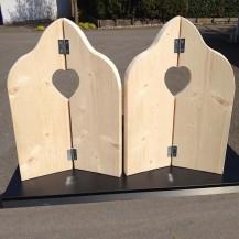 Steigerhouten Raamluik duo-hart