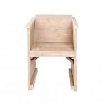 Steigerhouten stoel Diner, onbehandeld hout