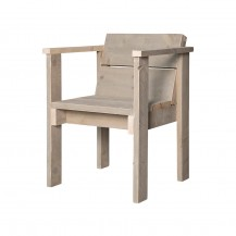 Steigerhouten stoel Diner open, onbehandeld hout