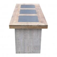 Steigerhouten tafel Inzet
