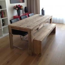 Steigerhouten tafel Stein
