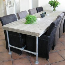 Steigerhouten tafel Linda