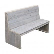 Steigerhouten zitbank Erik 1, Gebruikt hout en onbehandeld