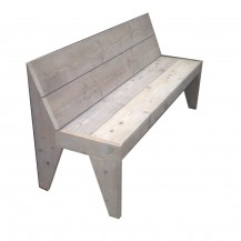 Steigerhouten zitbank Gijs 2, gebruikt  hout en onbehandeld