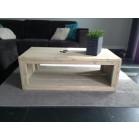 steigerhouten salontafel anouck 2, nieuw hout en licht grijs behandeld
