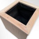 Douglas houten Bloembak Doeke