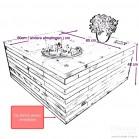 steigerhout salontafel kops, maatvoering