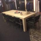 Steigerhouten tafel Milan, gebruikt  hout met een nano coating