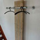 Steigerhout kapstok Vigo, oud hout en onbehandeld