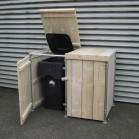 Steigerhouten kliko container ombouw Jasper 4, nieuw hout met steigerbuis frame en onbehandeld