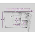 Steigerhouten Dressoir/kantoormeubel Saako, maatvoering