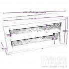 Steigerhout tv meubel Phony, maatvoering