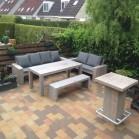 Steigerhout Statafel IJzeren Hein, Oud hout en onbehandeld