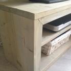 Steigerhout tv meubel Phony 3, Nieuw hout en behandeld in lichte grijze beits