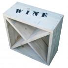 Steigerhout Wijnrekken X 2, nieuw hout en witte beits