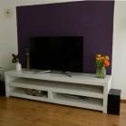 Steigerhouten TV Meubel Remko, nieuw hout en dekkend wit ral 9010