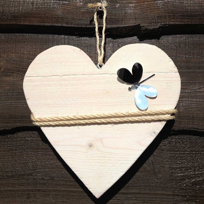 Steigerhout decoratie hart type e - Decoratie kind ...