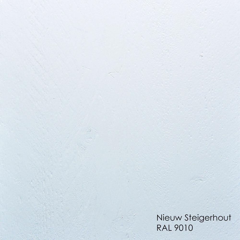 Nieuw steigerhout dekkend wit RAL9010