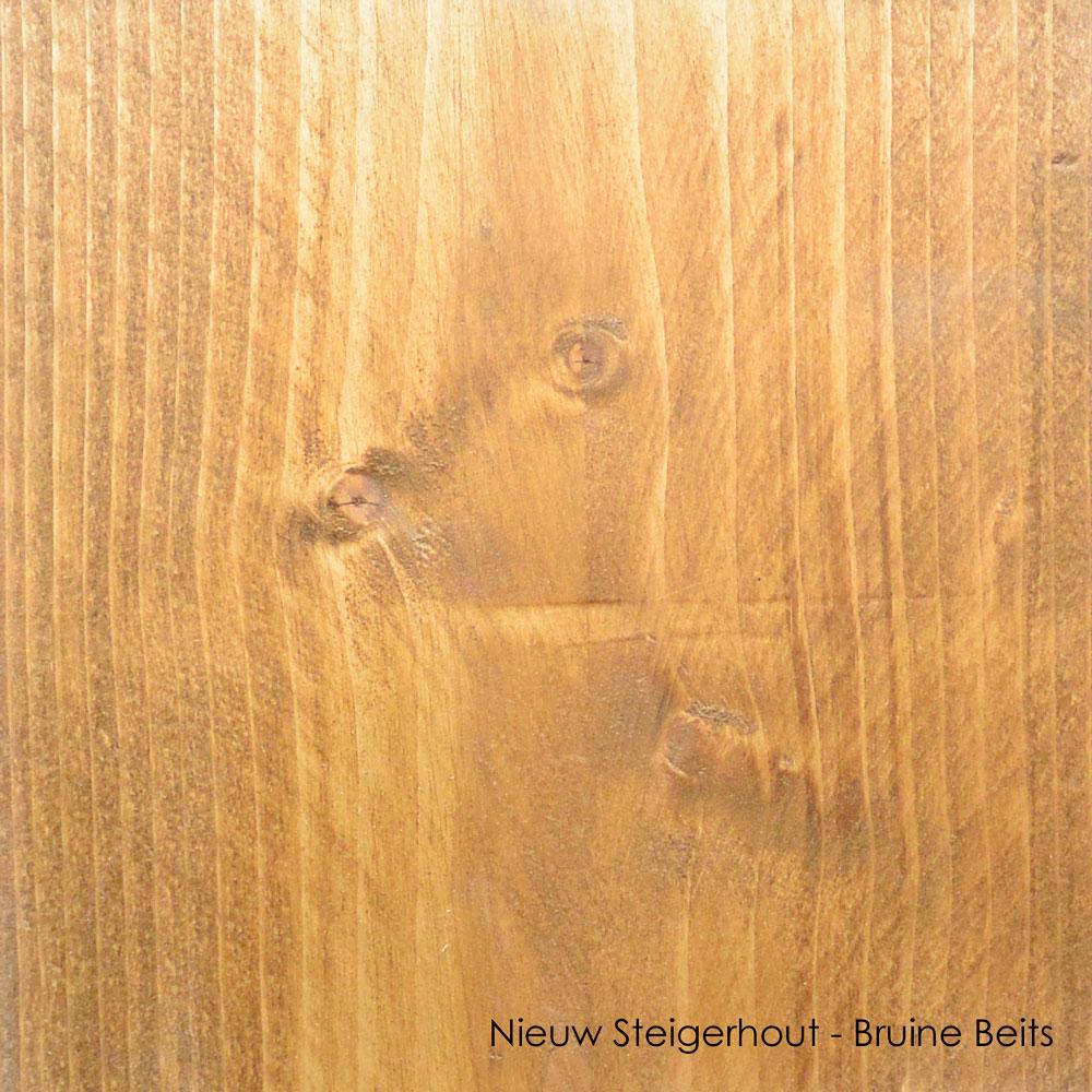 nieuw steigerhout bruine beits