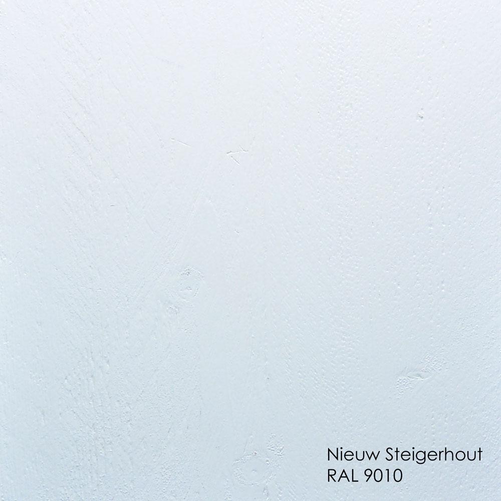 nieuw steigerhout dekkend wit RAL 9010