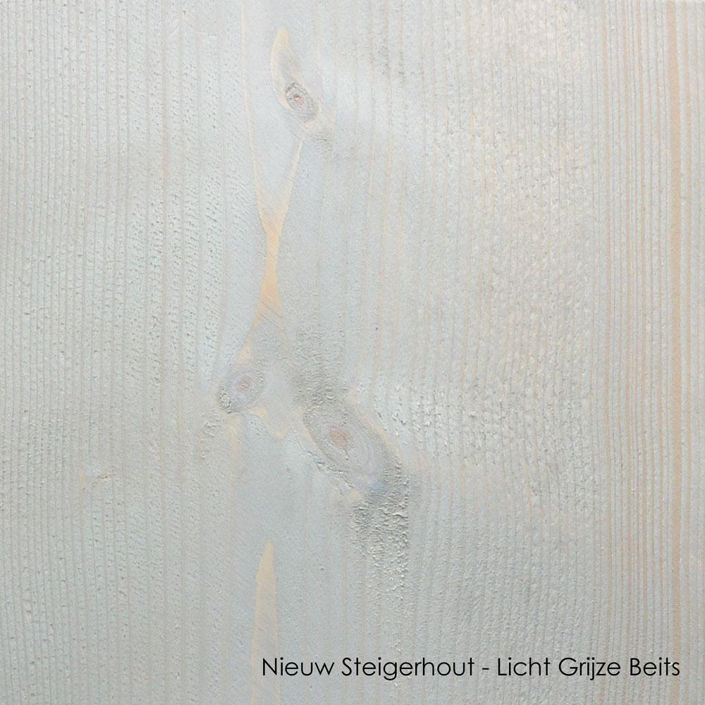 nieuw steigerhout licht grijze beits