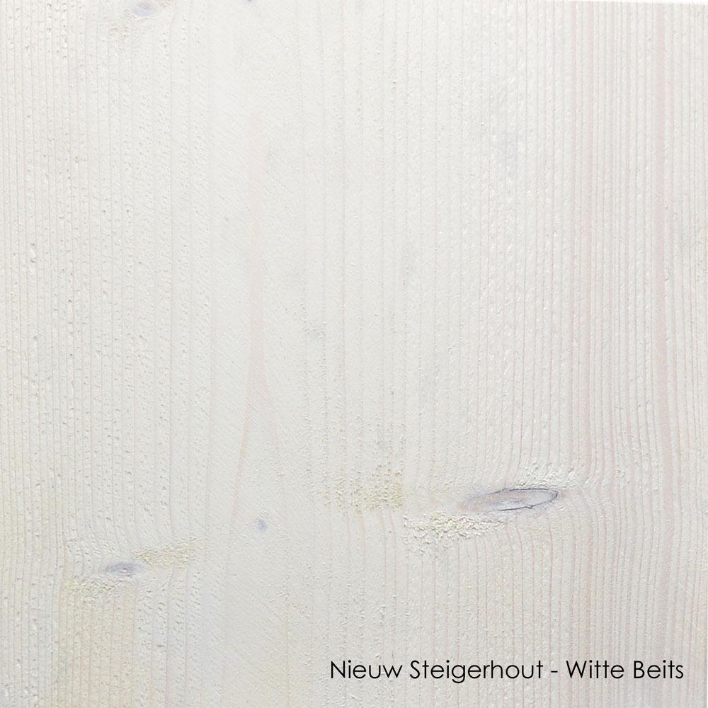nieuw steigerhout witte beits