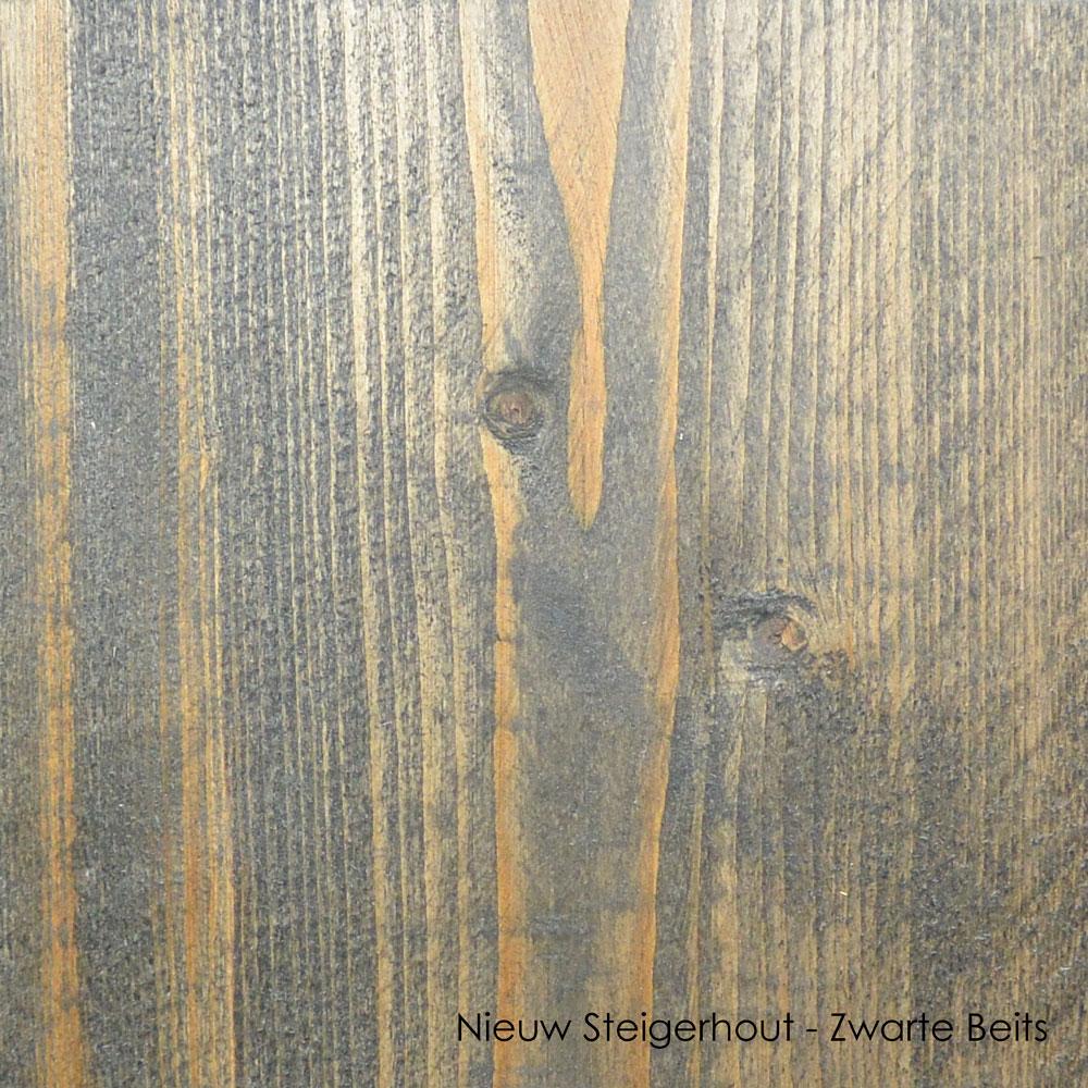nieuw steigerhout zwarte beits